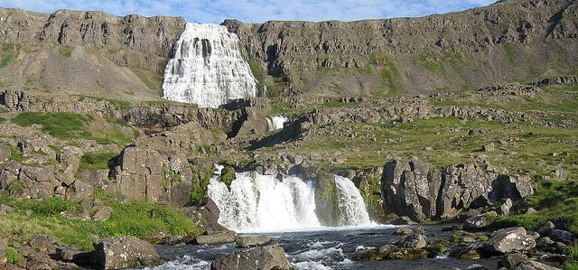 Dynjandi Foss Wasserfall in Island flickr (c) ihn picture CC-Lizenz