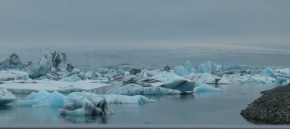 Jökulsárlón - Gletschersee mit Eisbergen