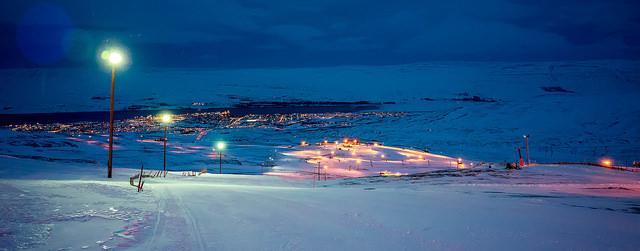 Hlíðarfjall - Skifahren auf Island bei Akureyri